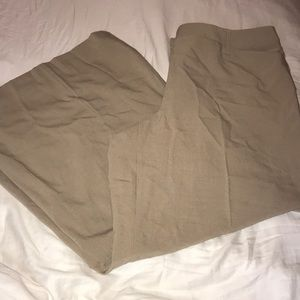 Pants - Tan Wide Leg Pants Slacks Plus Size 22w
